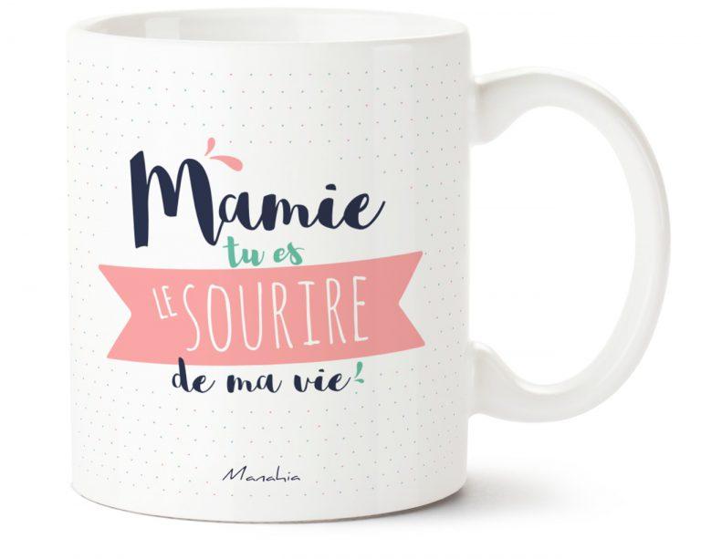 mug mamie tu es le sourire de ma vie