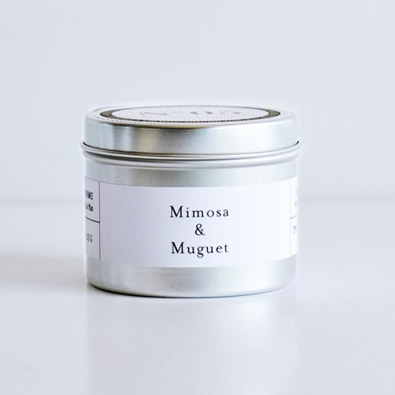 bougie mimosa & muguet
