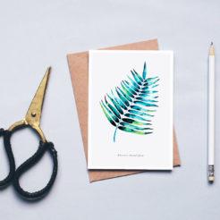 carte herbier palmier