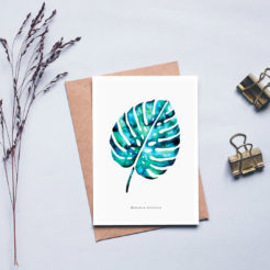carte herbier monstera