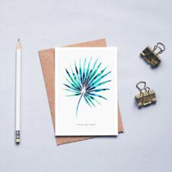 Carte herbier palme