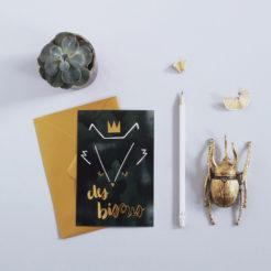 carte renard des bisous