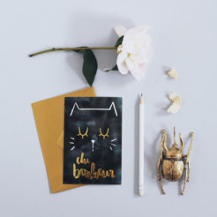 """carte chat """"du bonheur"""""""