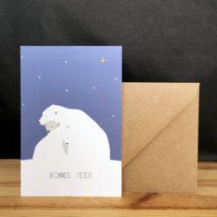 carte bonnes fêtes polaire