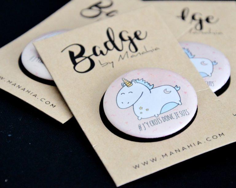 Badge licorne étiquette