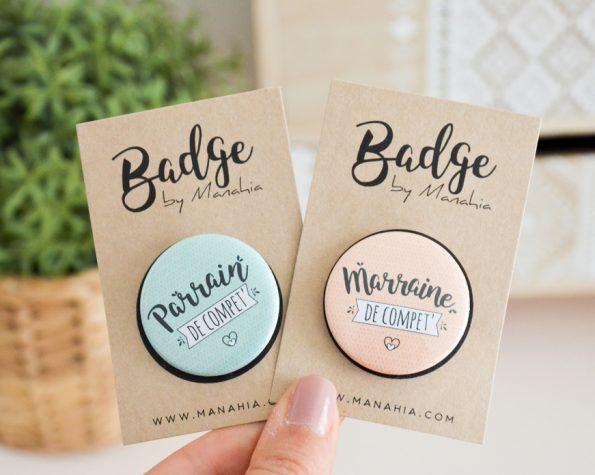 badges parrain marraine