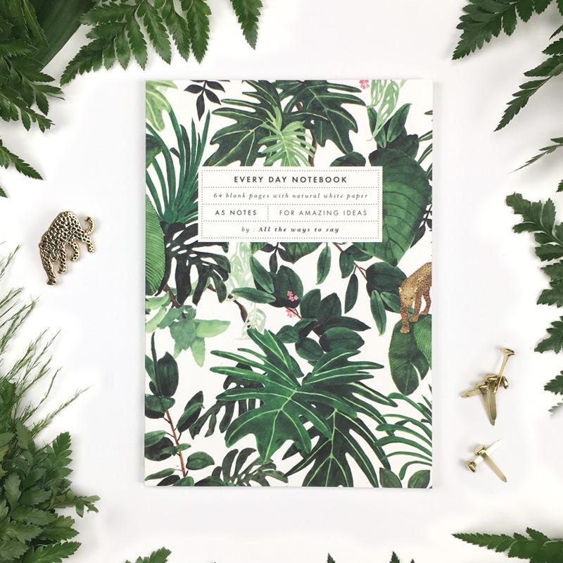 cahier jungle