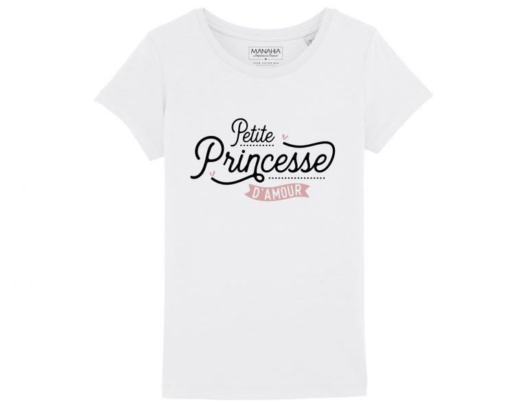 d8e96d5306c40 T-shirt enfant - Petite princesse d'amour - La Renarde apprivoisée