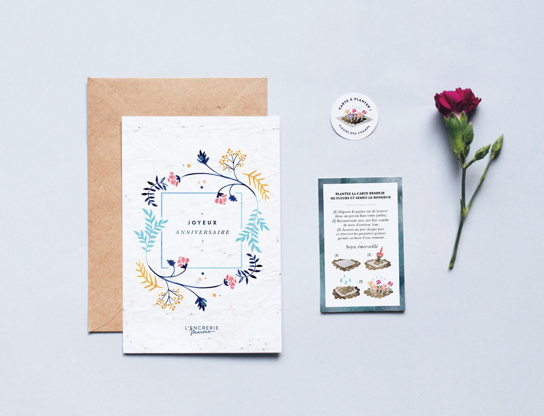 Carte Anniversaire Papier.Carte A Planter Joyeux Anniversaire