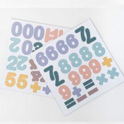 chiffres pastel
