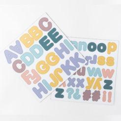 lettres pastel